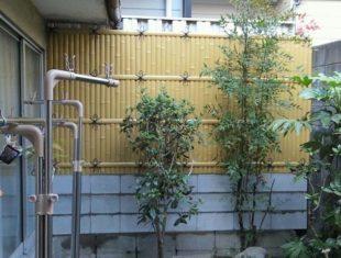 竹に見える塀設置