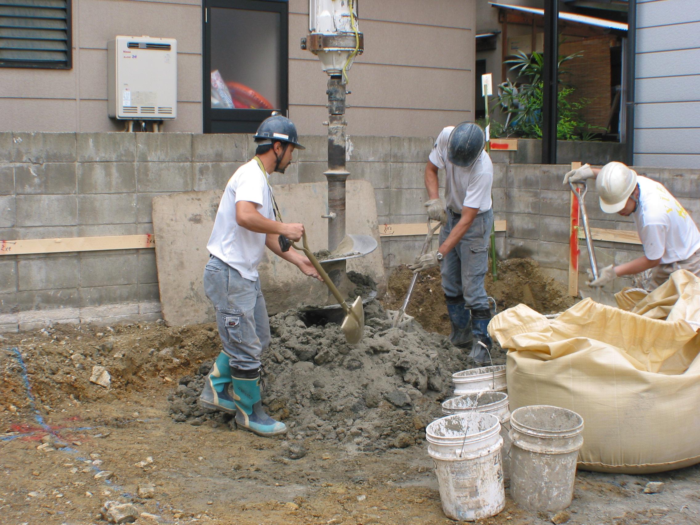 土工事・基礎地業工事イメージ