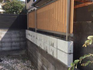 K様邸 目隠しフェンス設置工事